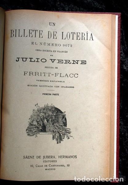 Libros antiguos: JULIO VERNE - ANTIGUO -GRABADOS - KERABAN EL TESTARUDO / MISTRESS BRANICAN / BILLETE DE LOTERIA - G - Foto 9 - 98358995