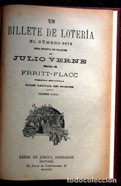 Libros antiguos: JULIO VERNE - ANTIGUO -GRABADOS - KERABAN EL TESTARUDO / MISTRESS BRANICAN / BILLETE DE LOTERIA - G - Foto 10 - 98358995