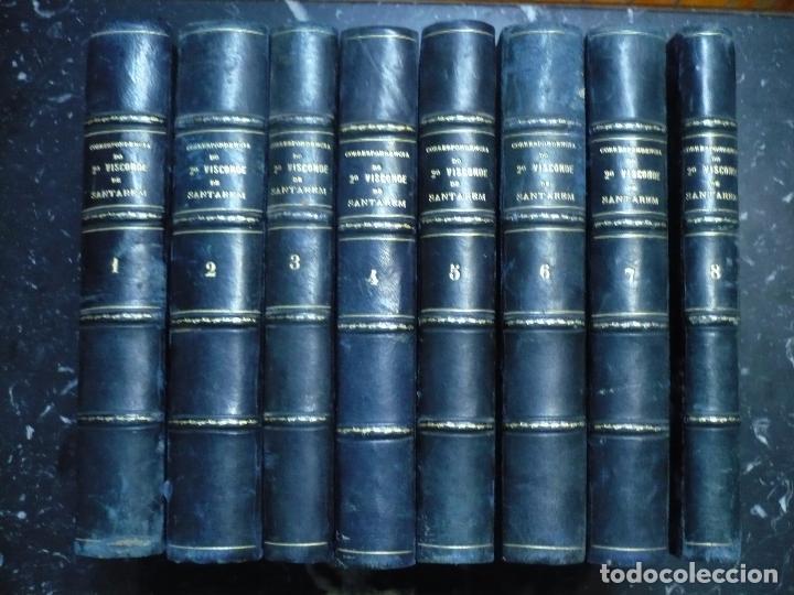 CORRESPONDENCIA DO 2ª VISCONDE DE SANTAREM R. MARTINS 1918 LISBOA 8 TOMOS (Libros antiguos (hasta 1936), raros y curiosos - Literatura - Narrativa - Clásicos)