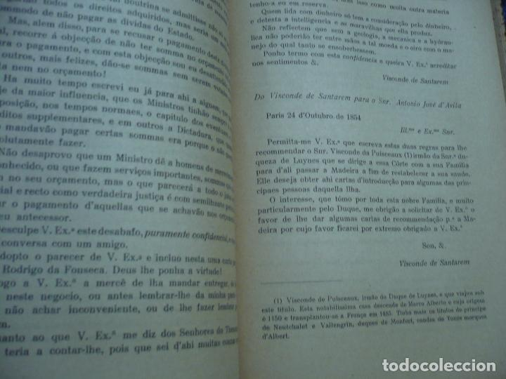 Libros antiguos: CORRESPONDENCIA DO 2ª VISCONDE DE SANTAREM R. MARTINS 1918 LISBOA 8 TOMOS - Foto 12 - 99253707