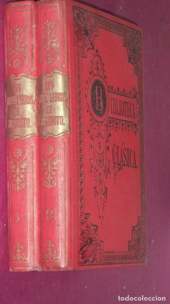 LOS NUEVE LIBROS DE HERODOTO 1912 2 TOMOS (Libros antiguos (hasta 1936), raros y curiosos - Literatura - Narrativa - Clásicos)
