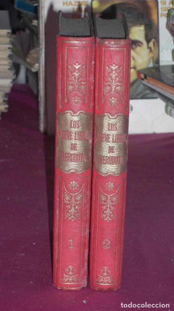 Libros antiguos: LOS NUEVE LIBROS DE HERODOTO 1912 2 TOMOS - Foto 2 - 145957333