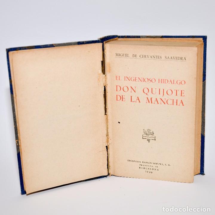 Libros antiguos: DON QUIJOTE DE LA MANCHA - EDITORIAL RAMON SOPENA 1936 - Foto 2 - 99909179
