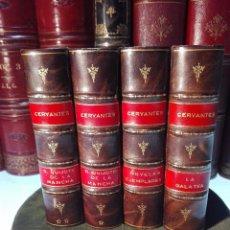 Old books - OBRAS DE CERVANTES - DON QUIJOTE DE LA MANCHA - LA GALATEA - NOVELAS EJEMPLARES - MADRID - 1883 - - 100895835