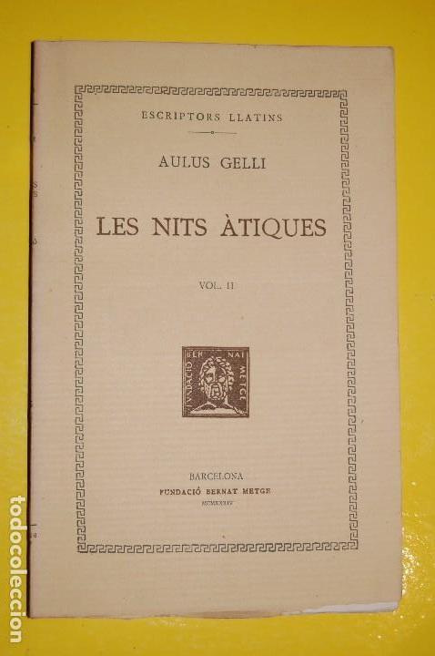 FUNDACIÓ BERNAT METGE CLÀSSICS LLATINS. PLAUTE,. COMÈDIES VOLUM II 1935 (Libros antiguos (hasta 1936), raros y curiosos - Literatura - Narrativa - Clásicos)