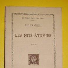 Libros antiguos: FUNDACIÓ BERNAT METGE CLÀSSICS LLATINS. PLAUTE,. COMÈDIES VOLUM II 1935. Lote 122688043