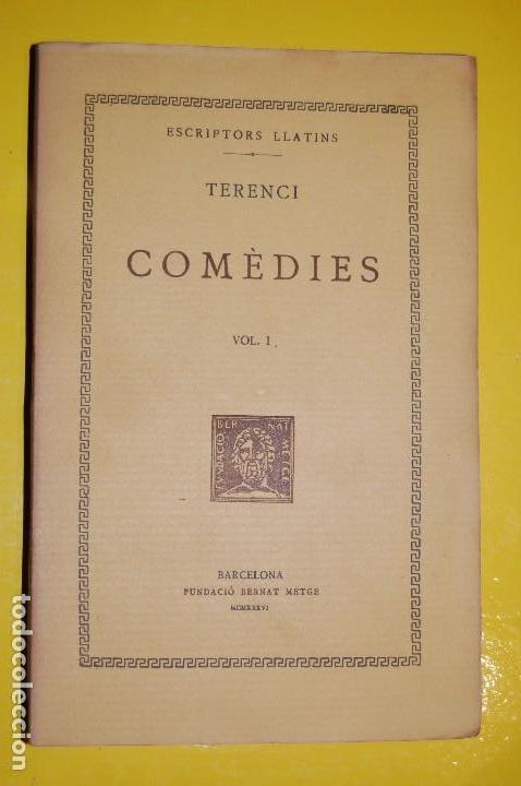 FUNDACIÓ BERNAT METGE CLÀSSICS LLATINS. PLAUTE,. COMÈDIES VOLUM I 1934 (Libros antiguos (hasta 1936), raros y curiosos - Literatura - Narrativa - Clásicos)