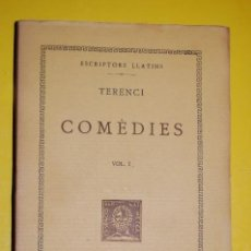 Libros antiguos: FUNDACIÓ BERNAT METGE CLÀSSICS LLATINS. PLAUTE,. COMÈDIES VOLUM I 1934. Lote 101136895