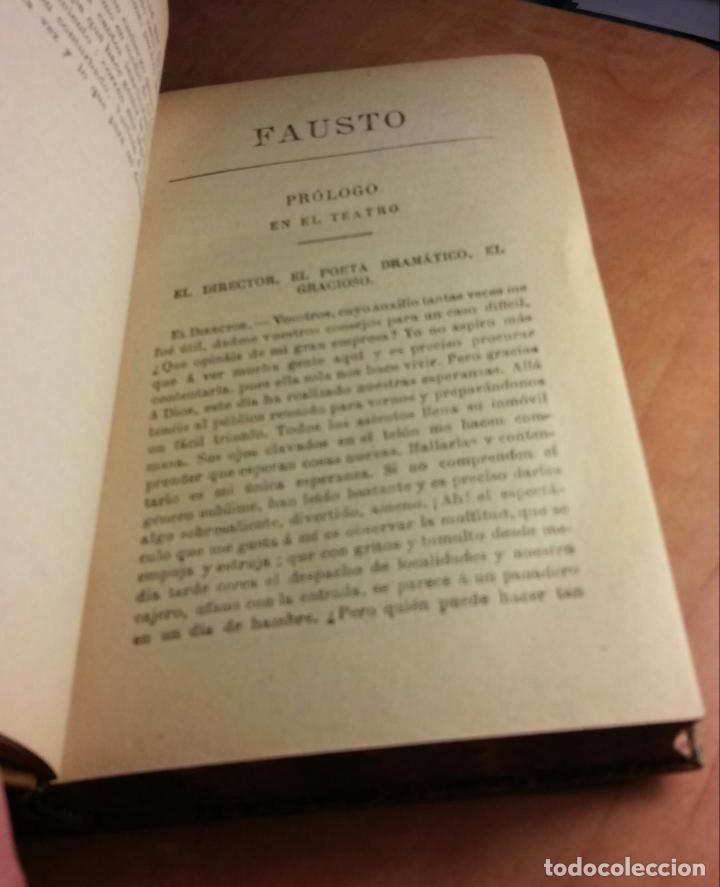 Libros antiguos: goethe: fausto y el segundo fausto (1921) - Foto 5 - 104264775