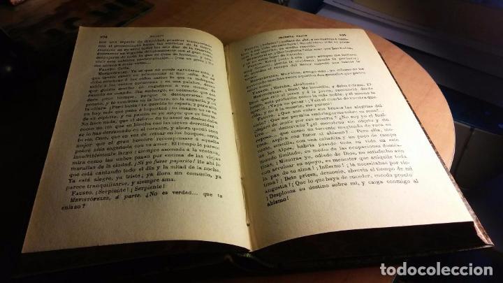 Libros antiguos: goethe: fausto y el segundo fausto (1921) - Foto 6 - 104264775