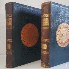 Libros antiguos: CERVANTES, DON QUIJOTE 1ª ED MONTANER Y SIMON 1880 , IL. POR BALACA Y PELLICER.ENC.LUJO SALVATELLA. Lote 46869693