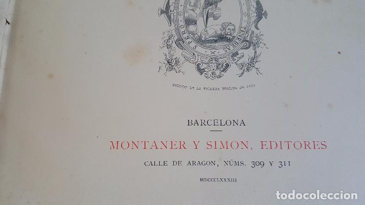 Libros antiguos: CERVANTES, DON QUIJOTE 1ª ED MONTANER Y SIMON 1880 , IL. POR BALACA Y PELLICER.enc.lujo SALVATELLA - Foto 31 - 46869693