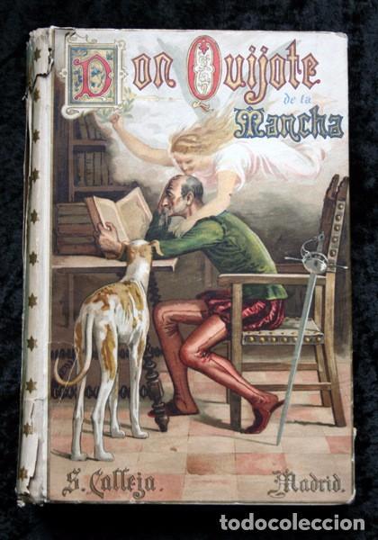 DON QUIJOTE DE LA MANCHA - CERVANTES - CALLEJA - PERLA - M. ANGEL CARRETERO - SAMPIETRO - SANTAMARIA (Libros antiguos (hasta 1936), raros y curiosos - Literatura - Narrativa - Clásicos)