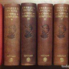 Libros antiguos: CHARLES DICKENS OBRAS COMPLETAS AGUILAR 6 TOMOS 1948, 1949, 1950, 1950, 1951, 1952. . Lote 103304127