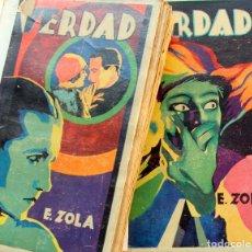 Libros antiguos: E.ZOLA: VERDAD - ED.MAUCCI,BARCELONA 1920 - 2 TOMOS. Lote 103892263