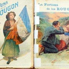 Libros antiguos: E.ZOLA-LA FORTUNA DE LOS ROUGON-GASSO HNOS.ED.STA.TERESA BARCELONA-2 TOMOS-EMILIO M MARTINEZ. Lote 103892471