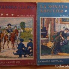 Libros antiguos: LEÓN TOLSTOI - LA GUERRA Y LA PAZ, LA SONATA DE KREUTZER - LA NOVELA ILUSTRADA C/ 1910. Lote 103981771