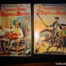 Libros antiguos: DON QUIJOTE DE LA MANCHA 1ª Y 2ª PARTE- ANTIGUA COLECCIÓN PULGA Nº 1-2 . Lote 105184747