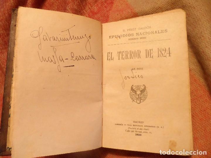 Libros antiguos: EL TERROR DE 1824 Y UN VOLUNTARIO REALISTA, B.P. GALDÓS 1929 -EPISODIOS NACIONALES II- - Foto 7 - 105739071