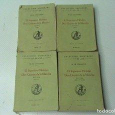 Libros antiguos: EL INGENIOSO HIDALGO DON QUIJOTE DE LA MANCHA (4 TOMOS) (A: MIGUEL DE CERVANTES). Lote 106883423