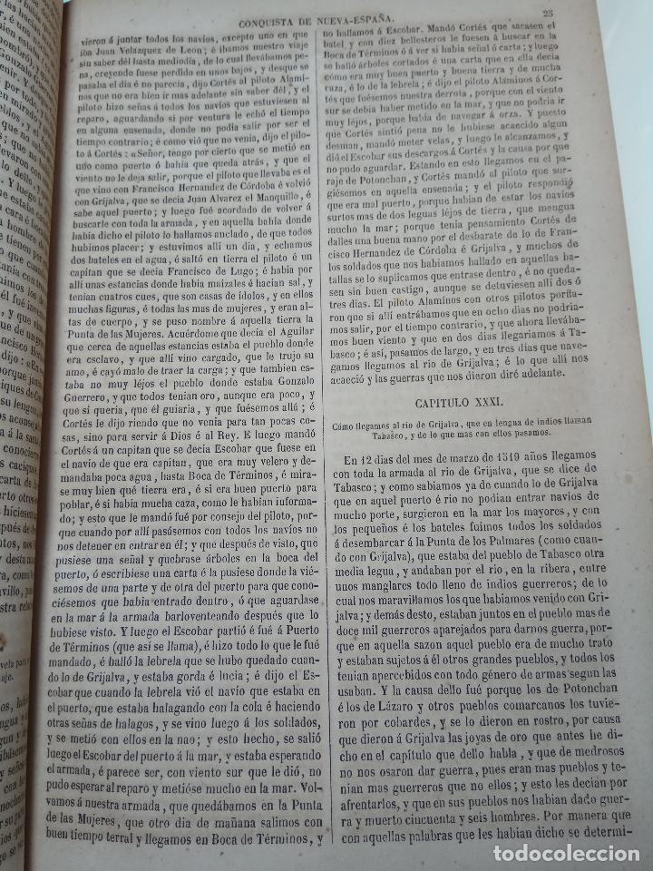 Libros antiguos: HISTORIADORES PRIMITIVOS DE INDIAS - B. DE AUTORES ESPAÑOLES - TOMOS XXII Y XXVI - 1852 Y 1853 - - Foto 9 - 107708651
