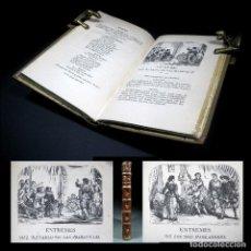 Old books - Año 1868 Miguel de Cervantes Los entremeses 11 grabados El Retablo de las Maravillas Madrid - 108909599