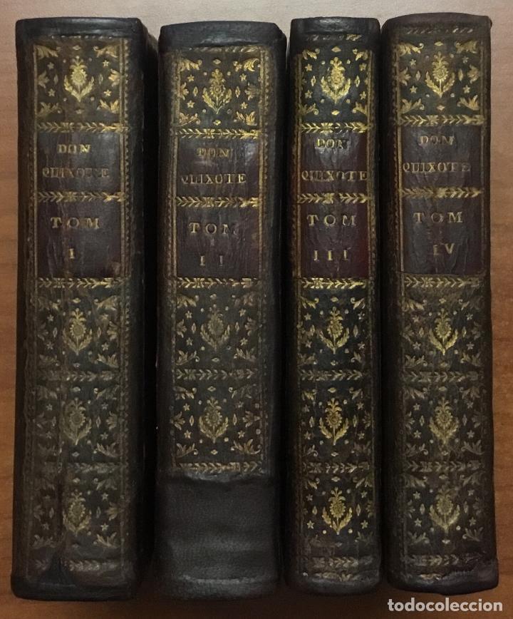 EL INGENIOSO HIDALGO DON QUIXOTE DE LA MANCHA. IBARRA, 1782. 4 TOMOS. 24 LÁMINAS Y UN MAPA PLEGADO. (Libros antiguos (hasta 1936), raros y curiosos - Literatura - Narrativa - Clásicos)