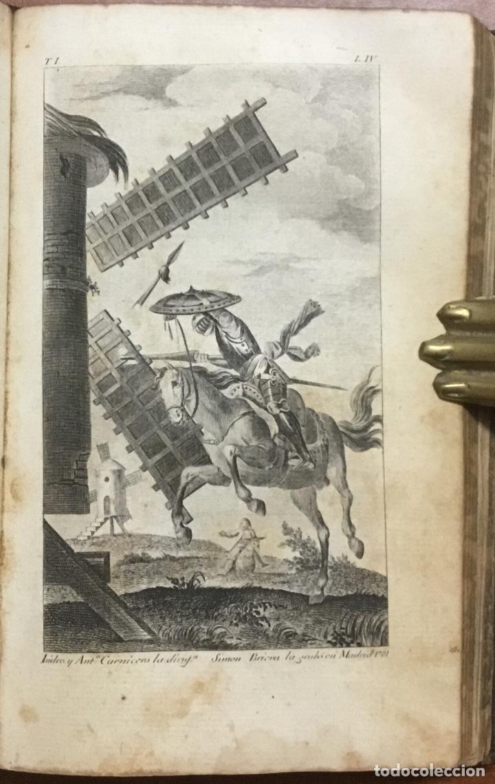 Libros antiguos: EL INGENIOSO HIDALGO DON QUIXOTE DE LA MANCHA. IBARRA, 1782. 4 TOMOS. 24 LÁMINAS Y UN MAPA PLEGADO. - Foto 3 - 108988911