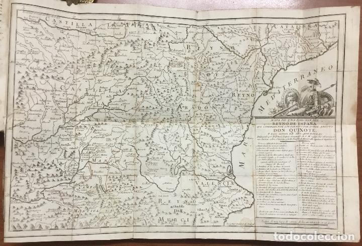 Libros antiguos: EL INGENIOSO HIDALGO DON QUIXOTE DE LA MANCHA. IBARRA, 1782. 4 TOMOS. 24 LÁMINAS Y UN MAPA PLEGADO. - Foto 4 - 108988911