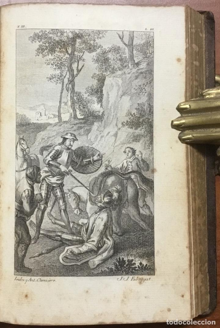 Libros antiguos: EL INGENIOSO HIDALGO DON QUIXOTE DE LA MANCHA. IBARRA, 1782. 4 TOMOS. 24 LÁMINAS Y UN MAPA PLEGADO. - Foto 8 - 108988911