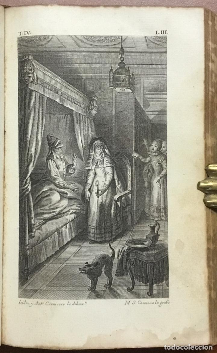 Libros antiguos: EL INGENIOSO HIDALGO DON QUIXOTE DE LA MANCHA. IBARRA, 1782. 4 TOMOS. 24 LÁMINAS Y UN MAPA PLEGADO. - Foto 10 - 108988911
