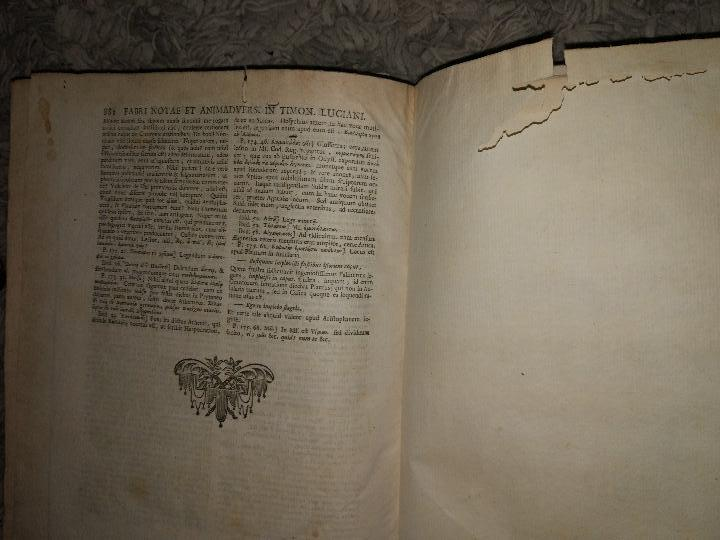 Libros antiguos: Luciani Samosatensis. Mosis Solani & I.M Gesneri. Opera Cum Nova Versione. 1743-46. 4 Vol. - Foto 14 - 109037515