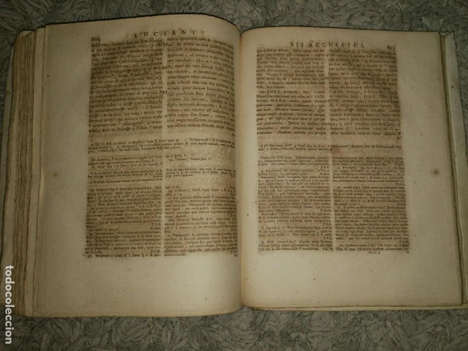 Libros antiguos: Luciani Samosatensis. Mosis Solani & I.M Gesneri. Opera Cum Nova Versione. 1743-46. 4 Vol. - Foto 9 - 109037515