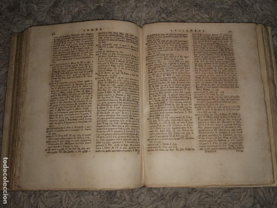 Libros antiguos: Luciani Samosatensis. Mosis Solani & I.M Gesneri. Opera Cum Nova Versione. 1743-46. 4 Vol. - Foto 11 - 109037515