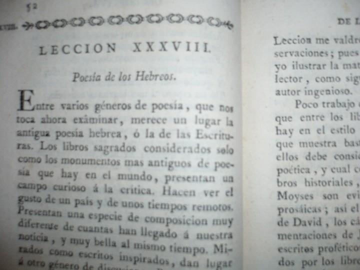 Libros antiguos: LECCIONES SOBRE RETORICA Y BELLAS LETRAS HUGO BLAIR 1801 MADRID TOMO 4º - Foto 6 - 109044999