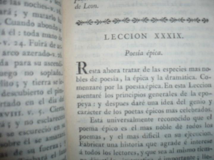 Libros antiguos: LECCIONES SOBRE RETORICA Y BELLAS LETRAS HUGO BLAIR 1801 MADRID TOMO 4º - Foto 7 - 109044999