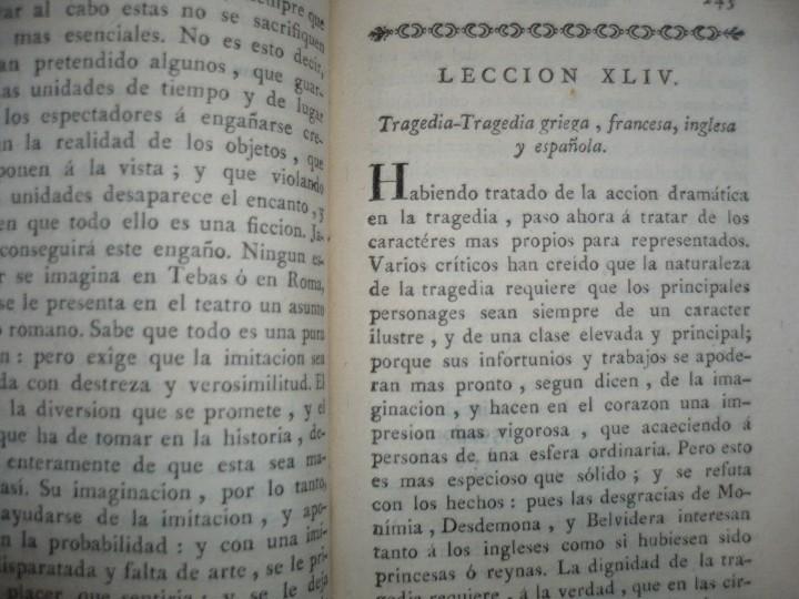 Libros antiguos: LECCIONES SOBRE RETORICA Y BELLAS LETRAS HUGO BLAIR 1801 MADRID TOMO 4º - Foto 8 - 109044999