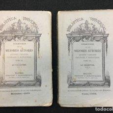 Libros antiguos: FERNANDO DE ROJAS. LA CELESTINA, TRAJI-COMEDIA DE CALIXTO Y MELIBEA. MADRID, 1872. 2 TOMOS. O. C.. Lote 109299747