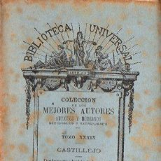 Libros antiguos: CASTILLEJO : DIÁLOGO QUE HABLA DE LAS CONDICIONES DE LAS MUJERES (BIBL. UNIVERSAL, 1884). Lote 109476187