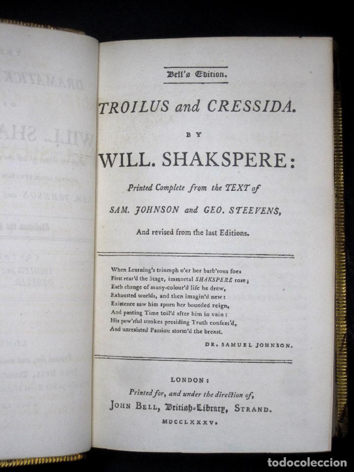 Libros antiguos: Año 1788 Shakespeare Otelo Troilo y Crésida 4 grabados a plena página 2 obras en un volúmen Othello - Foto 9 - 109644651