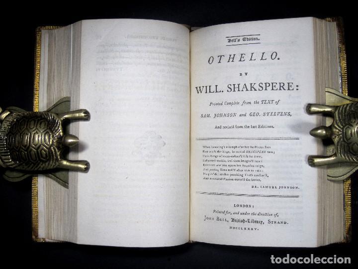 Libros antiguos: Año 1788 Shakespeare Otelo Troilo y Crésida 4 grabados a plena página 2 obras en un volúmen Othello - Foto 10 - 109644651