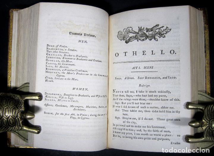Libros antiguos: Año 1788 Shakespeare Otelo Troilo y Crésida 4 grabados a plena página 2 obras en un volúmen Othello - Foto 11 - 109644651