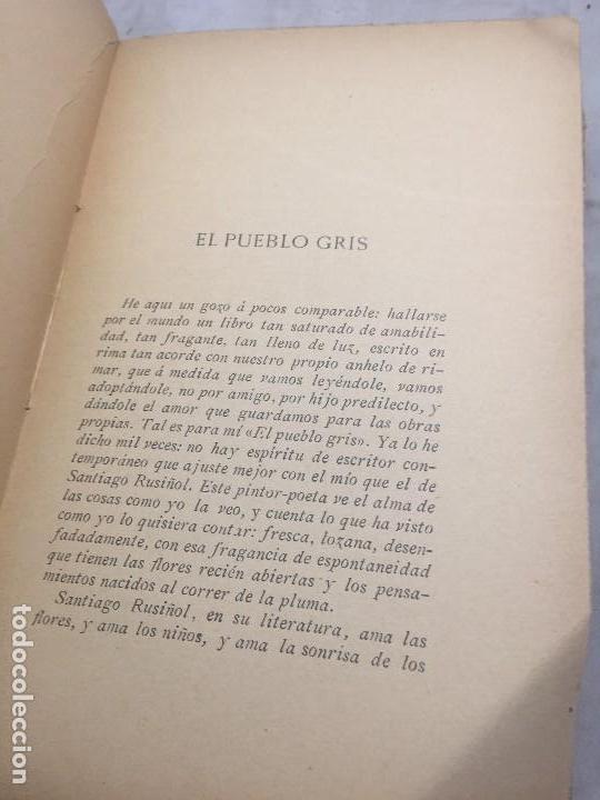 Libros antiguos: El Pueblo Gris Santiago Rusiñol español 1904 primera edición Madrid rústica - Foto 5 - 109763615