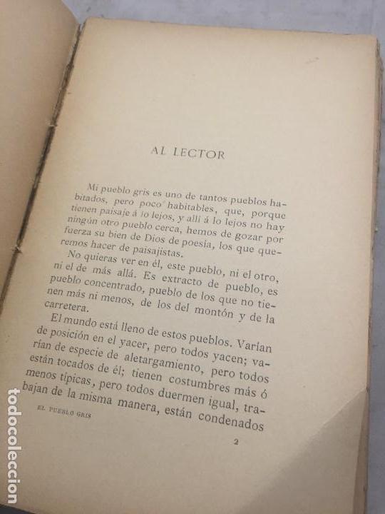 Libros antiguos: El Pueblo Gris Santiago Rusiñol español 1904 primera edición Madrid rústica - Foto 6 - 109763615