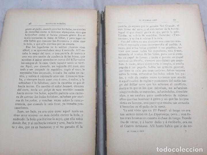 Libros antiguos: El Pueblo Gris Santiago Rusiñol español 1904 primera edición Madrid rústica - Foto 9 - 109763615