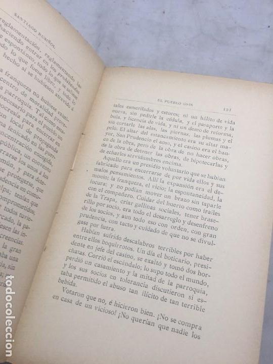 Libros antiguos: El Pueblo Gris Santiago Rusiñol español 1904 primera edición Madrid rústica - Foto 10 - 109763615