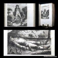 Libros antiguos: AÑO 1822 LOS VIAJES DE GULLIVER 4 ESPECTACULARES GRABADOS A PLENA PÁGINA 2 TOMOS EN UN VOLÚMEN SWIFT. Lote 110031875