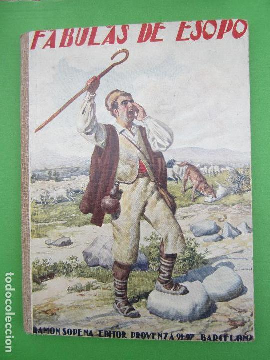 BIBLIOTECA PARA NIÑOS , RAMON SOPENA 1925 , FABULAS DE ESOPO , (Libros antiguos (hasta 1936), raros y curiosos - Literatura - Narrativa - Clásicos)