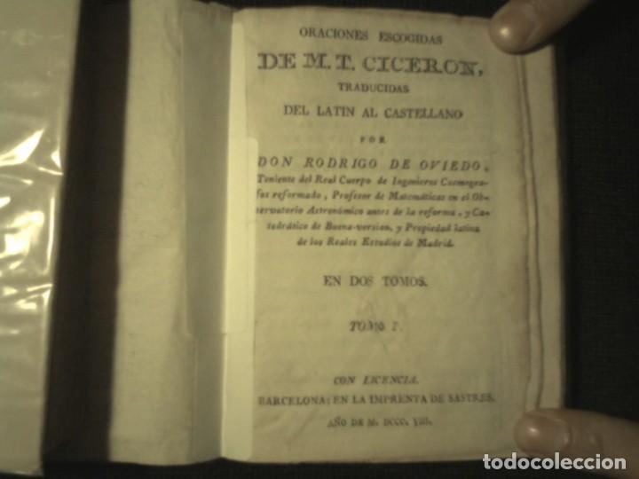 Libros antiguos: 1808 Oraciones escogidas de M.T. Ciceron, traducidas del latin por don Rodrigo de Oviedo 1808 - Foto 2 - 111178103