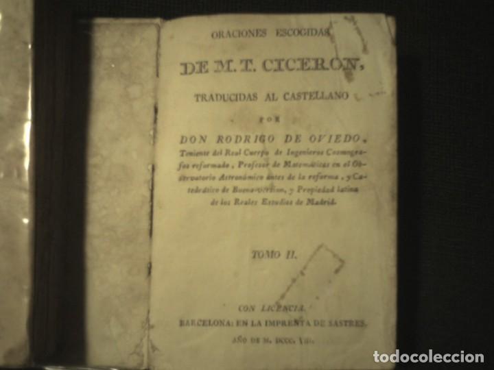 Libros antiguos: 1808 Oraciones escogidas de M.T. Ciceron, traducidas del latin por don Rodrigo de Oviedo 1808 - Foto 3 - 111178103